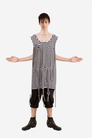 File:DP - Spring Summer 2009 - Black and white striped fringe shirt.jpg