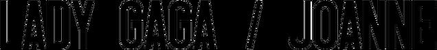 File:Lady Gaga Joanne Logo.png