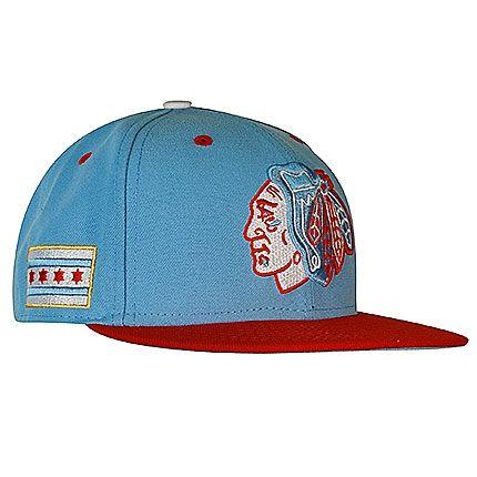 File:New Era - Chicago Blackhawks sky scarlet flag fitted flatbrim NHL baseball snapback cap.jpg