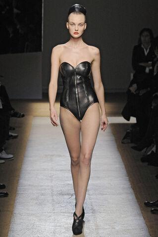File:Yves Saint Laurent Fall Winter 2009 Black leather bodysuit.jpg