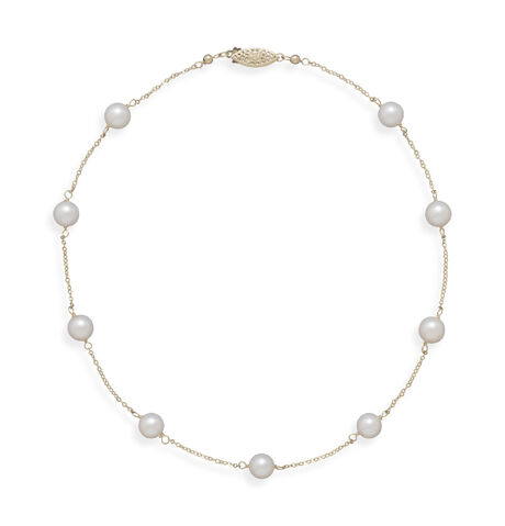 File:Blue Bangle - 16'' 14k chains with 7mm akoya pearls necklace.jpeg