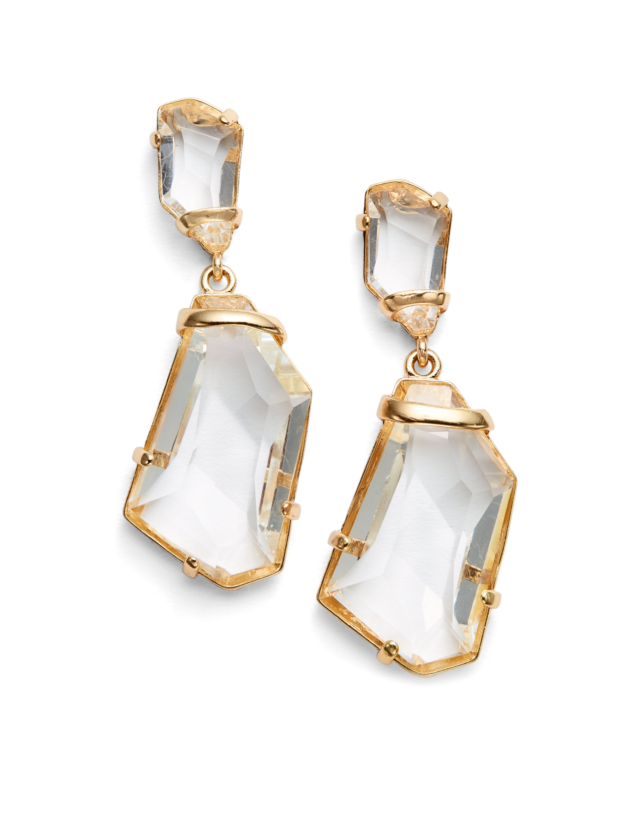 File:Kenneth Jay Lane Clear Crystal Drop earrings.jpg