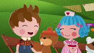 S2 E17 Rosy and Beaver smiling for Forest