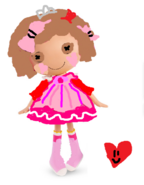 Pink loves n hearts outfit