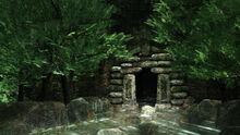 Bg03101カガミ湖 洞窟 入口