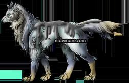 Antique Metal Dire Wolves5