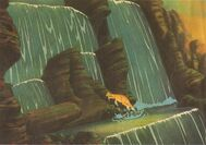 Littlefoot climbing Waterfall deleted scene