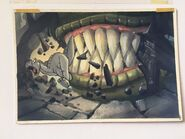 DON BLUTH Hand-Painted Original Color Key THE LAND BEFORE TIME 1988 1