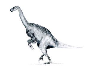 Erlikosaurus feathered