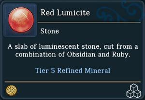 Red Lumicite