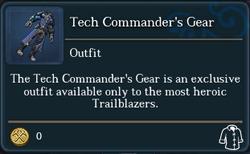 Tech Commander's Gear (tooltip)