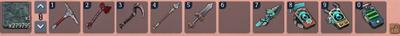 Equip weapons-hotbar