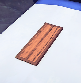 Striped Wood Trapdoor prop placed