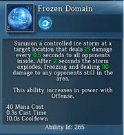 Frozen Domain