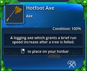 Hotfoot-axe