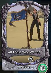 All those who wander