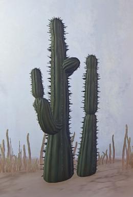 Double Desert Cactus prop placed.