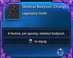 Skeletal-bodysuit-orange