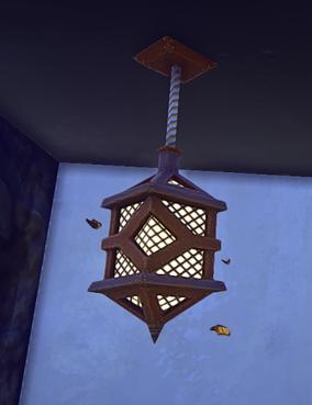 Landmark Kerran Hanging Lamp prop placed