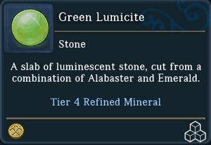 Green Lumicite