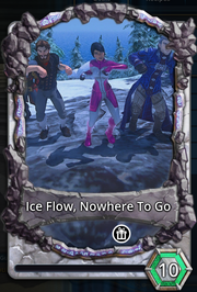 Ice flow nowhere to go