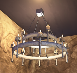 Landmark Iron Chandelier prop placed