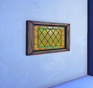Simple Stained Glass prop placed