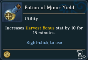 Potion of Minor Yield