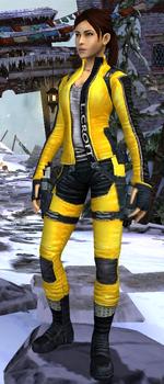 Relic Run Outfit Biker Yellow