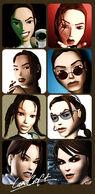 Lara Croft changing