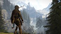 Lara Overlooking Some Ruins
