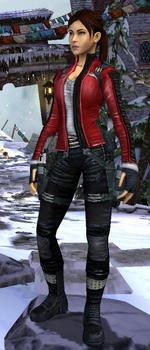 Relic Run Outfit Biker Crimson