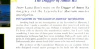 """Post-Mortem on the """"The Dagger of Amon Ra"""" investigation"""
