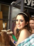 Laura at the meet and greet in Australia
