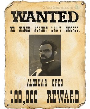 Aloquar Ordo's Wanted Poster