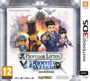 Professor Layton vs Phoenix Wright Dutch Boxart