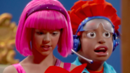 Nick Jr. LazyTown Pixel and Stephanie 16 - Purple Panther