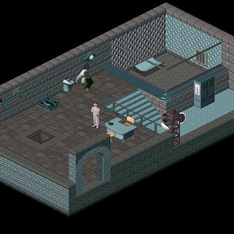 The interior of the prison