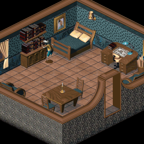 The house's interior in LBA2