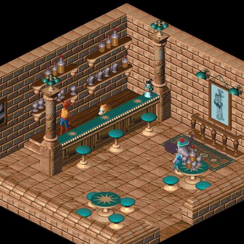 Interior of the tavern