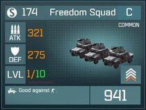 Freedom Squad C Lv1 Front
