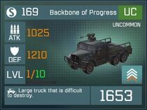 Backbone of Progress UC Lv1 Front