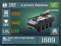 Larinas Resolve UC Lv1 Front