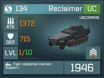 Reclaimer UC Lv1 Front