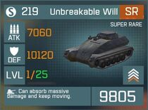 Unbreakable Will SR Lv1 Front
