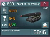 Might of the Worker R Lv1 Front
