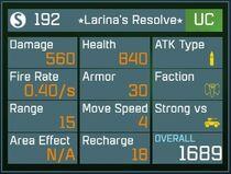 Larinas Resolve UC Lv1 Back