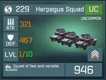 Harpagus Squad UC Lv1 Front