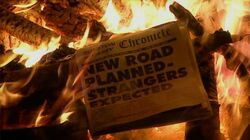New Road newspaper headline