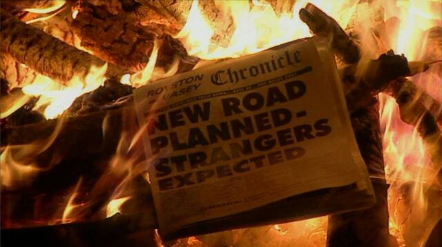 File:New Road newspaper headline.jpg